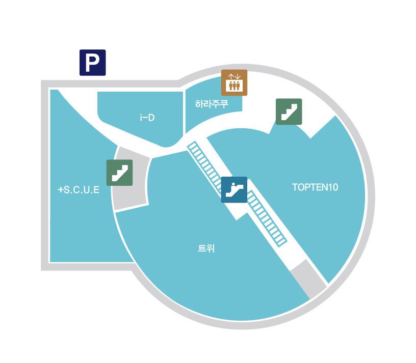 마리오 1관 층별 안내 지도