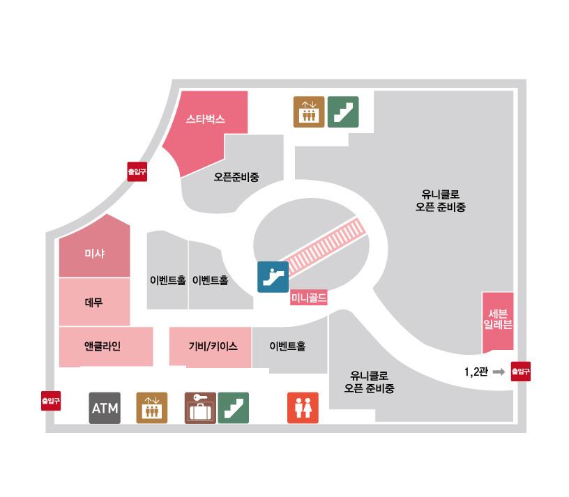 마리오 3관 층별 안내 지도